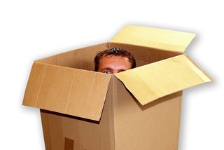 Man-peeking-out-of-box